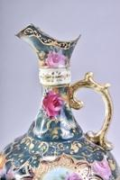 Unmarked Hand Painted Moriage Nippon Urn with Dotted Pattern