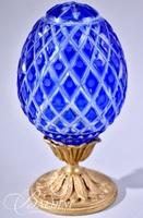 Fabergé Imperial Crest Hand Etched Crystal Egg in a Limited Edition of 81/100 with Box