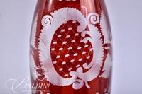 Egerman Czech Republic Red Cut to Clear Decanter with Stopper