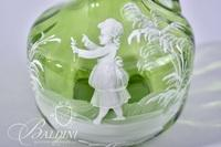 Mary Gregory Hand Painted Decanter Pitcher