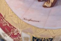 Royal Vienna Hand Painted Beehive Portrait Vase, Artist Signed Lower Left Portion of Portrait