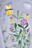 Hand Painted Art Glass Vase