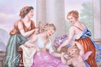 """13"""" Royal Vienna Beehive Mark Hand Painted Portrait Tray"""