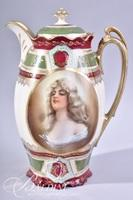 M.Z. Austria Beehive Mark Portrait Chocolate Pot