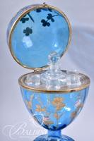 Antique Czech Republic Hand Painted Cordial Set - Missing one Cordial Glass