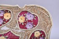 (3) Piece Condiment Set with Moriage Design