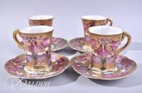 Unmarked Moriage Design Nippon Chocolate Set with (4) Cups and Saucers