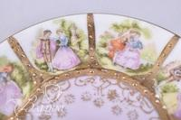 Arnart Creation Beehive Porcelain Portrait Pot with Creamer, Sugar, (4) Demitasse Cups and Saucers and One Cup in Metal Frame