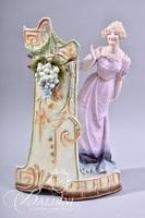 Bisque Porcelain Figure and Capodimonte Flower