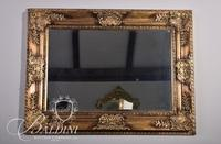 Gold Framed Mirror with Carved Foliage