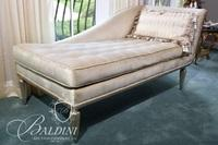 Upholstered Fainting Sofa - Contemporary