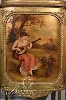 Hand Painted Antique Music Cabinet