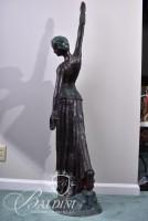 Costumed Dancer Bronze Statue