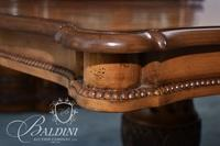 Inlaid Dining Table on Two Tripod Pedestal Bases with (2) Leaves