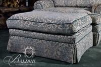 Oversized Upholstered Chair with Matching Ottoman