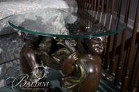Glass Top Table with Cherub Base