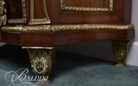 Marbletop French Two-Drawer Sideboard with Heavy Dore Bronze Mounts on Brass Feet