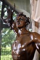 """""""Acteon"""" After Adrien Etienne Gaudez Bronze Statue Aslo Inscribed Hors Concours"""