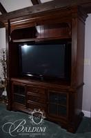 Entertainment Center with Two Doors with Drawers for Storing Electronics