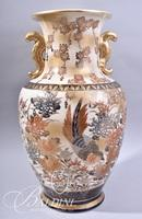 Asian Export Vase Purchased from the Dottie West Auction - Lot Tag on Underside