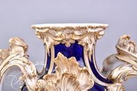 Old Paris Lidded Urn with Birks Paper Label on Underside