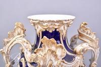 Old Paris Lidded Urn with Antique Dealer's Association Custom's Paper Label Affixed to Front