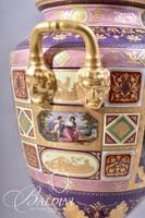 """Large 24"""" Royal Vienna Portrait Urn on Base with Beehive Mark"""