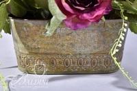 Floral Arrangement in Decorative Brass Bowl