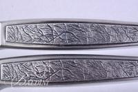 Pair Mid Century Modern Butcher Knives Marked A.S. Japan
