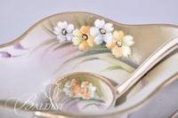 Assorted Porcelain Pieces - Nippon Jam Dish with Ladle, Bavaria Jam Pot
