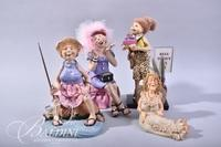 """""""Oh You Doll"""" Ceramic Figures"""