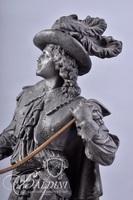 Don Juan Spelter Clock Statue