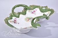 Early 1900's Hand Painted C.T. Germany Rococo Bowl with Two Handles