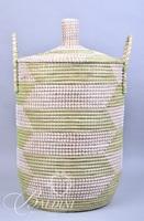 2-Handled Woven Basket with Lid