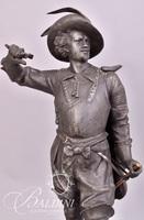 Don Caesar Spelter Clock Statue