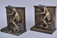 Pair of Bronze Scholar Bookends