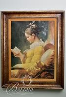 Giclee of Woman Reading a Book
