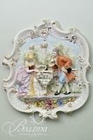 Meissan Wall Hanging of Maiden and Gentleman Standing at a Piano