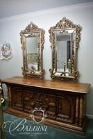 Mirrored Dresser with Two Doors and Six Drawers