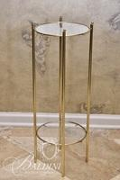 2-Tiered Glass Top Plant Stand