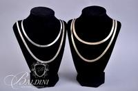 (3) Chains Marked 925 with Gold Plating - 53.5 grams, and One Other Costume Chain
