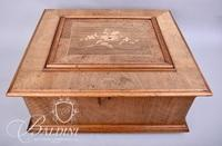 """Early Polyphon Music Box with (10) 16"""" Discs"""