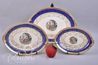 Bromley Smith Taylor Portrait China with 22Kt Gold Trim Serving Pieces