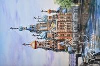 Dry Brush Watercolor Russian Cathedral