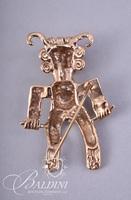 14K Yellow Gold South American Brooch - 13.4grams