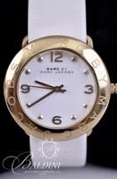 White Marc Jacobs Watch on Leather Band in Box