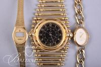 (3) Gold Tone Costume Watches