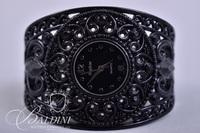 (3) Costume Watches - One is Black Cuff Bracelet Style