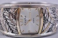 Ecclisse Sterling Silver Bracelet Watch and Two Tone Costume Cuff Watch