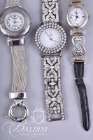 (3) Costume Watches - Brighton, Moderne and Amor Rhinestone
